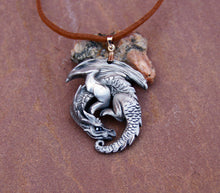Load image into Gallery viewer, Guardian Dragon Pewter Pendant