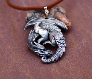 Guardian Dragon Pewter Pendant
