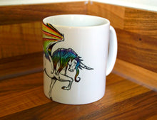 Load image into Gallery viewer, Rainbow Unicorn Charger Mug