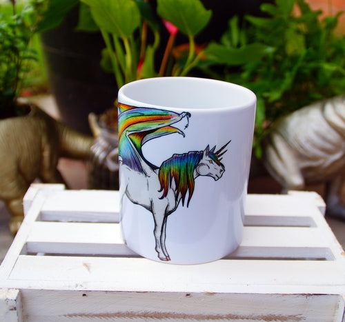 Rainbow Dragon Wing Unicorn Mug