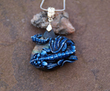Load image into Gallery viewer, Midnight the Sleepy Labradorite Guardian Pendant