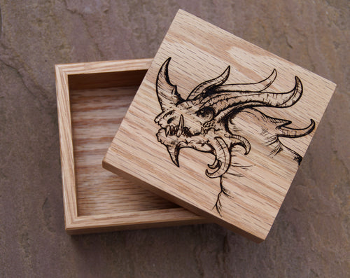 Vizzerdrix Solid Oak 9cm Wooden Box (Made to Order)