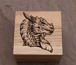 Noble Dragon Solid Oak 9cm Wooden Box (Made to Order)