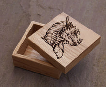 Load image into Gallery viewer, Noble Dragon Solid Oak 9cm Wooden Box (Made to Order)