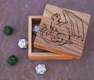 Toothless Solid Oak 9cm Wooden Box