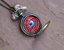 Load image into Gallery viewer, Red Steampunk Pocket Watcher