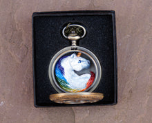 Load image into Gallery viewer, Rainbow Unicorn Pocket Watch Creature