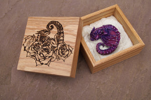 Handmade Sleepy Dragon and Engraved Box Set