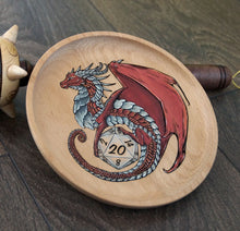 Load image into Gallery viewer, Red Hand Painted D20 Guardian Dish