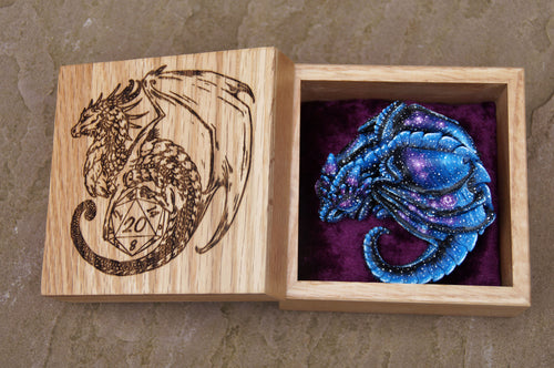 Sleepy Galaxy Dragon and engraved box set