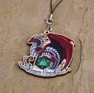 Dungeon Master Dragon Cherry Wood Charm
