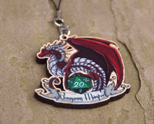 Load image into Gallery viewer, Dungeon Master Dragon Cherry Wood Charm
