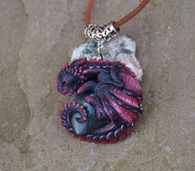 Load image into Gallery viewer, Lothric the Sleeping Labradorite Guardian Dragon Pendant