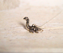 Load image into Gallery viewer, Sterling Silver Plesiosaur Charm with Oxidised Finish