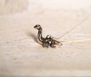 Sterling Silver Plesiosaur Charm with Oxidised Finish