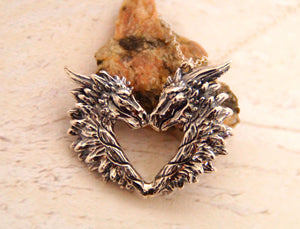 Sterling silver Love Dragon pendant