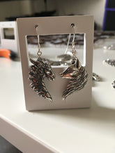 Load image into Gallery viewer, Sterling Silver Dragon/Wolf Earrings