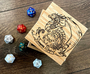 Dungeon Master Solid Oak 9cm Wooden Box