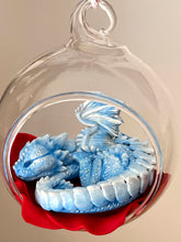 Load image into Gallery viewer, Sleepy Winter Dragon Bauble