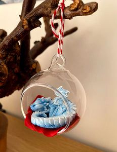 Sleepy Winter Dragon Bauble