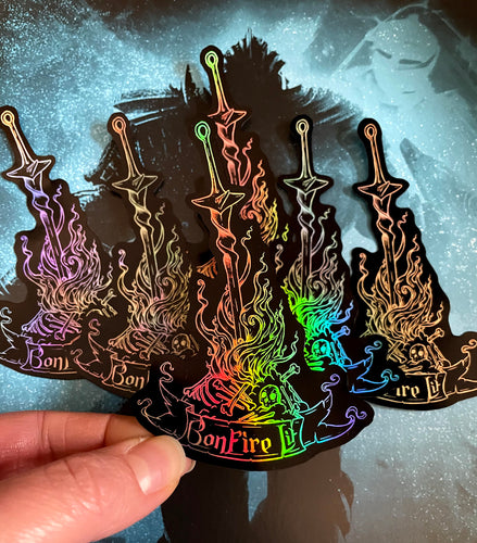 Dark Souls Bonfire Lit Holo Sticker