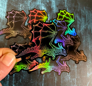 Flying Dragon Holo Sticker