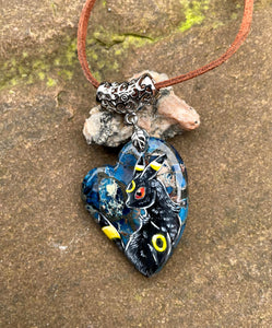 Umbreon Painted Stone Pendant