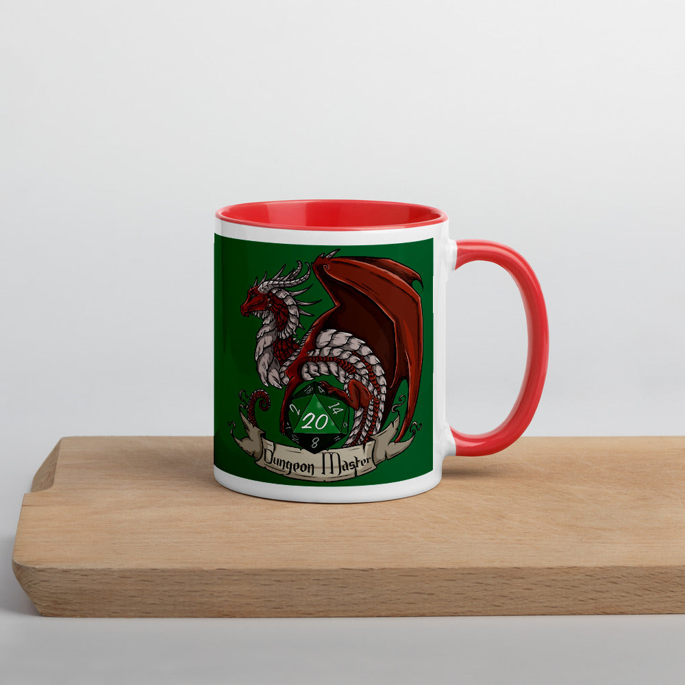 Dungeon Master Red Dragon Mug with Colour Inside