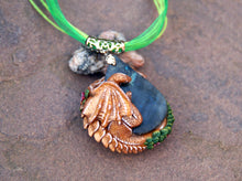 Load image into Gallery viewer, Sleeping Flower Guardian Labradorite Pendant