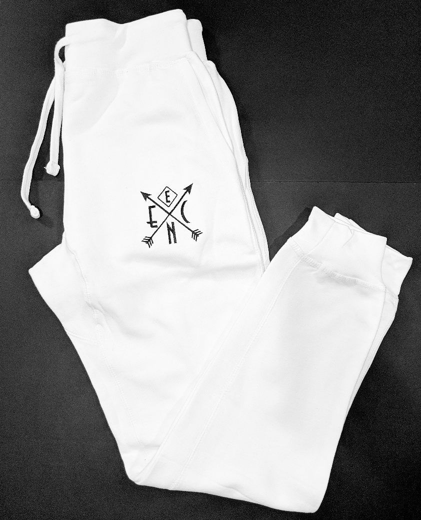 Ice White ENC Fitted Jogger Sweats