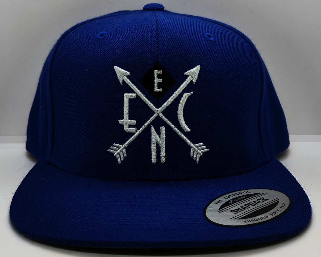 White on Royal Blue Snapback