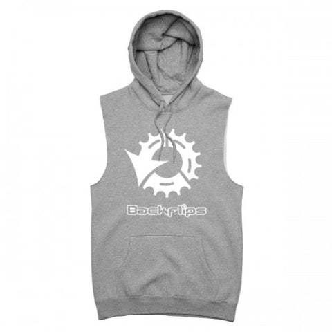 ETERNAL SLEEVLESS HOODIE - GREY