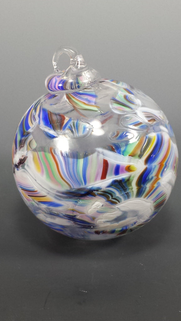 Custom Ornament Globe with Wedding Glass Shardz