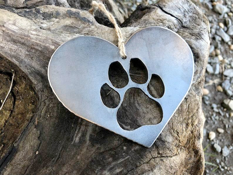 Paw Heart Ornament