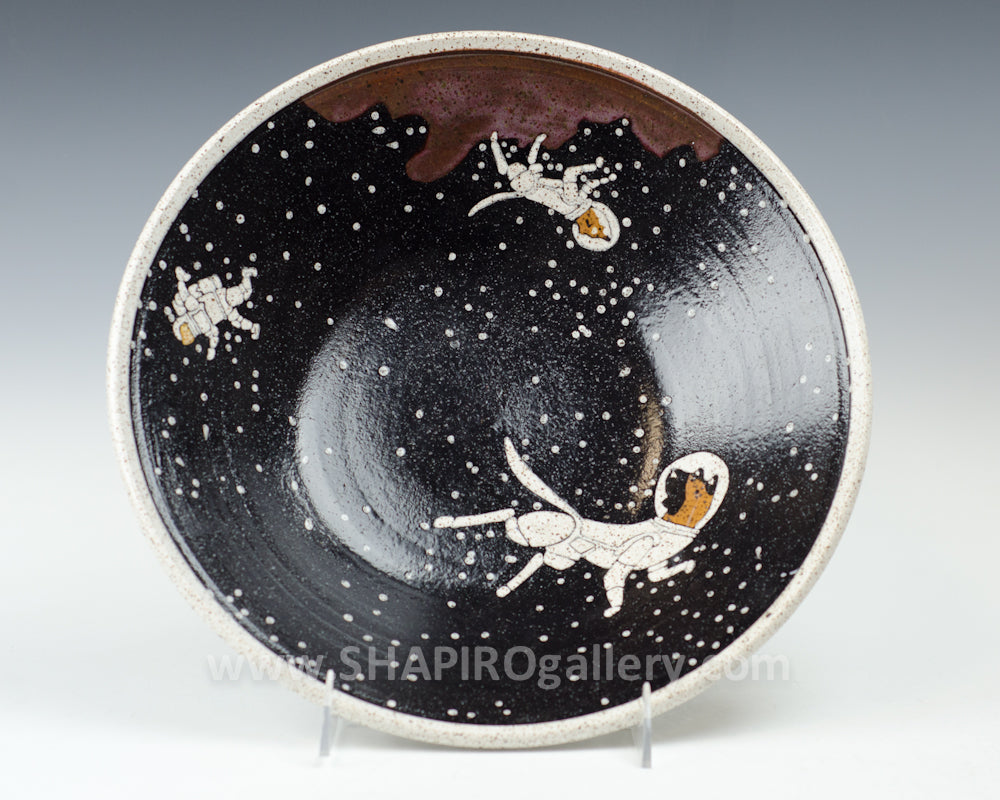 Dog and Astronaut Large Bowl Brown