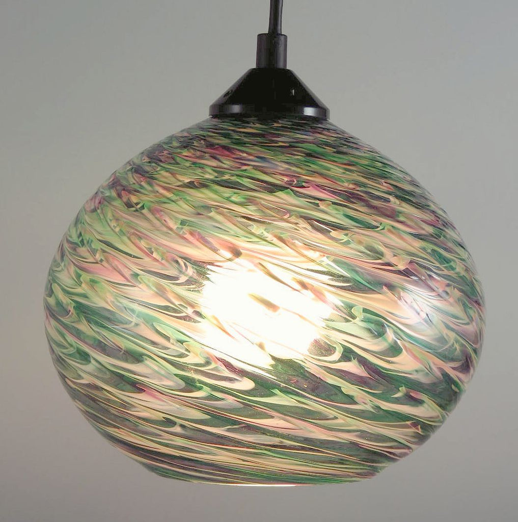 CX Clear Optic Blown Glass Pendant Lamp