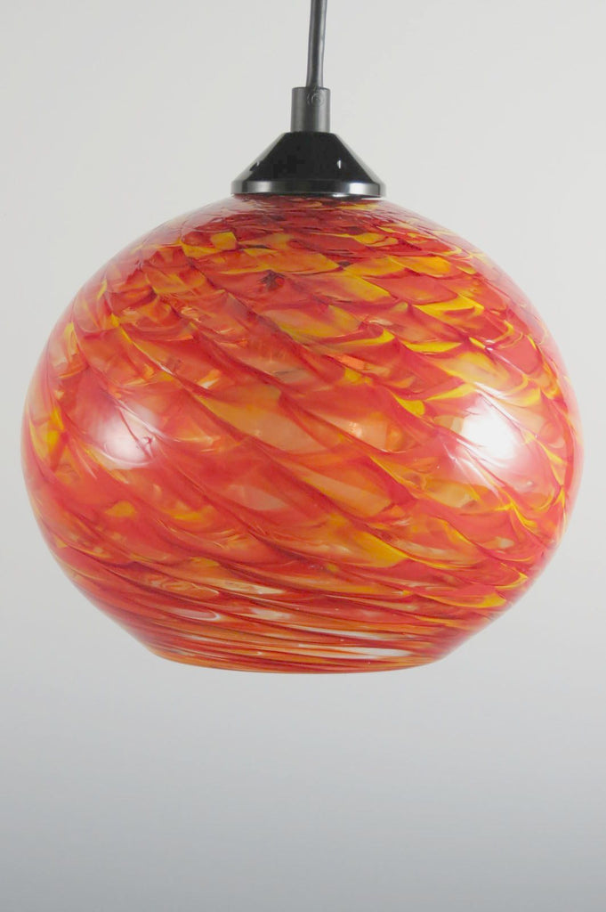 HX Clear Optic Blown Glass Pendant Lamp