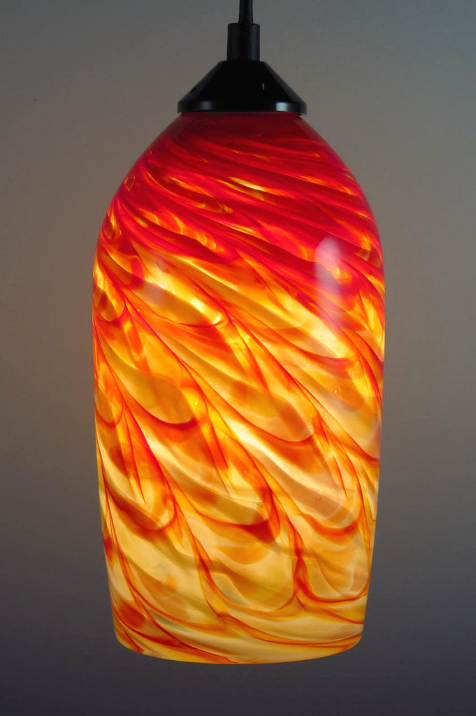 HX Optic Blown Glass Pendant Lamp