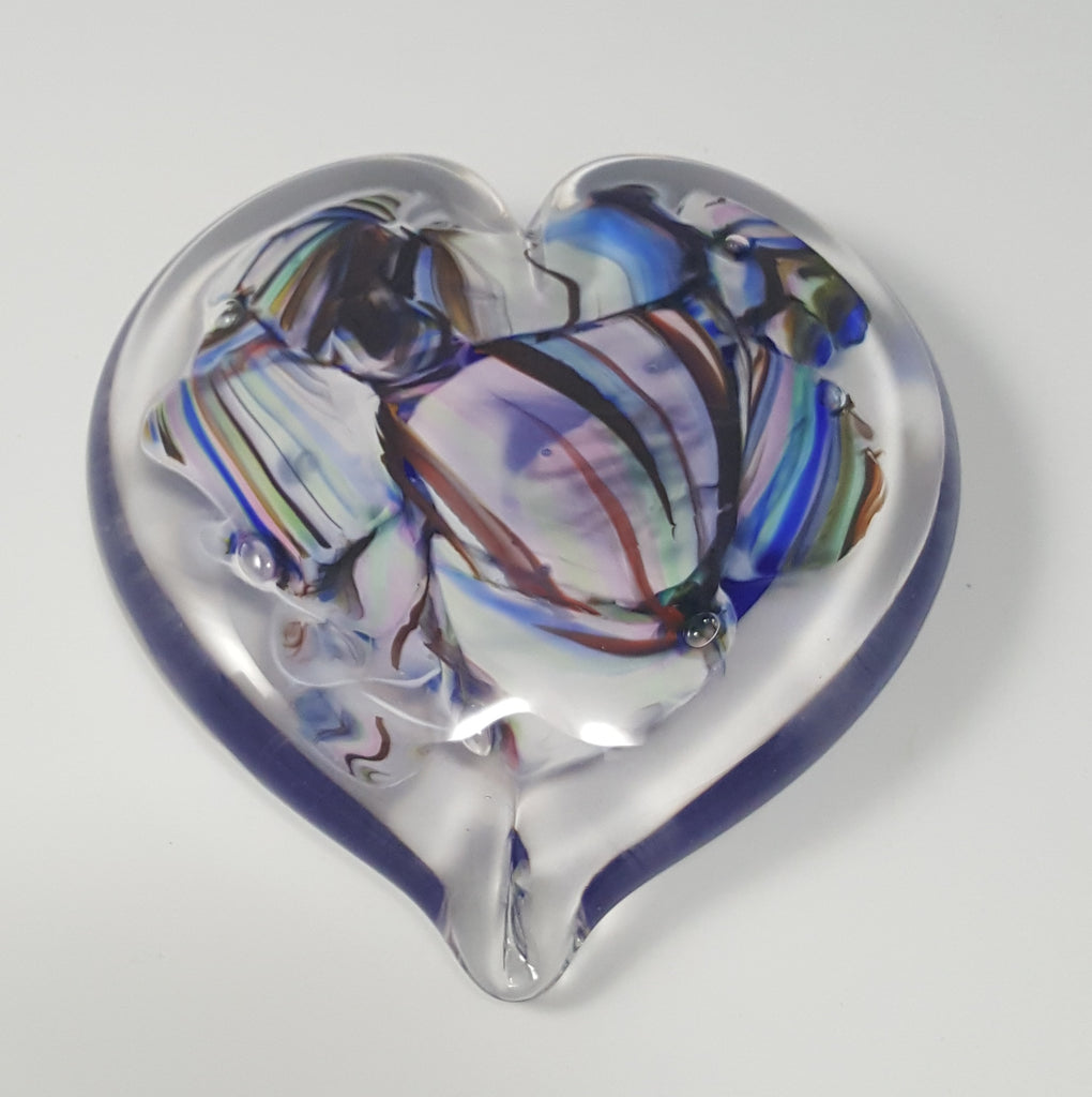Custom Heart Paperweight with Wedding Glass Shardz