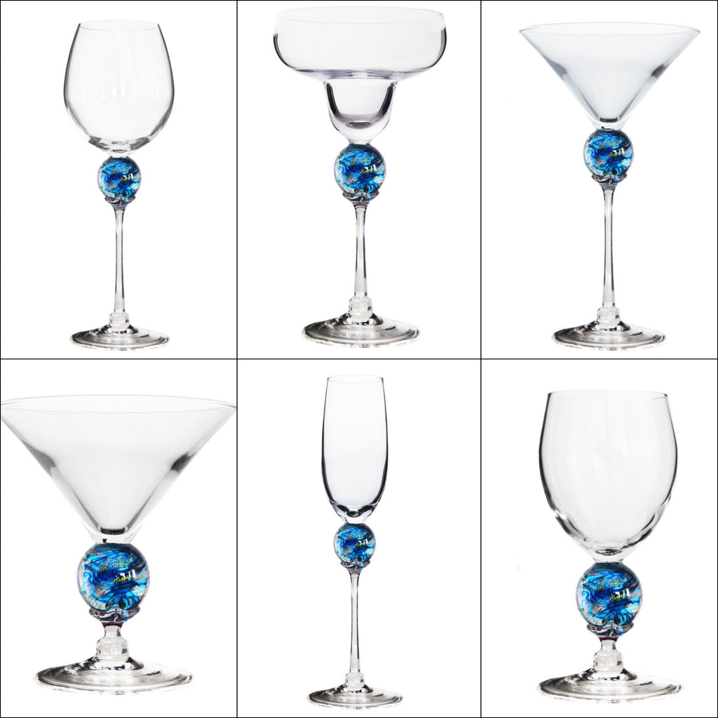 Turquoise Planet Stemware (multiple styles)