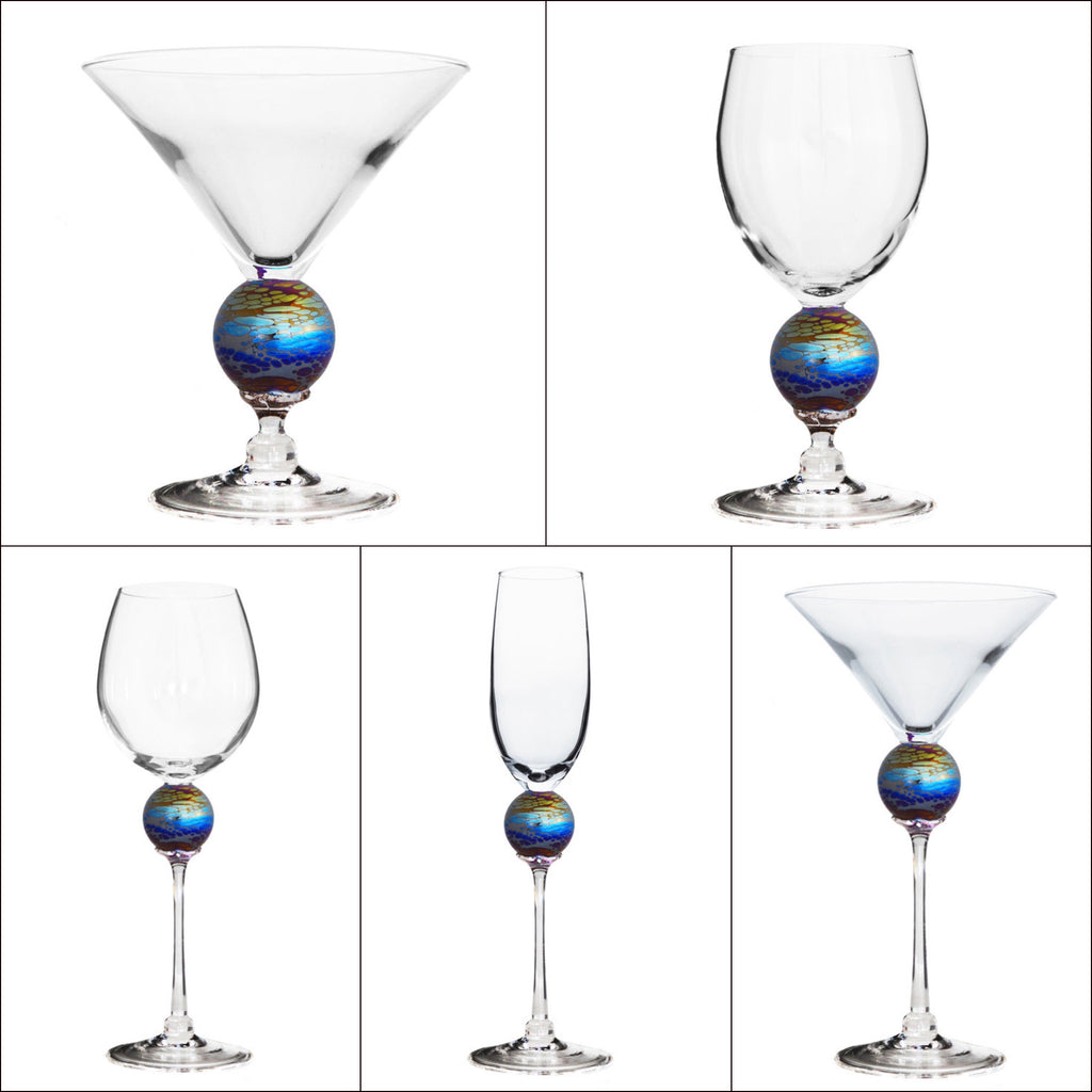 Rainbow Spider Planet Stemware (multiple styles)