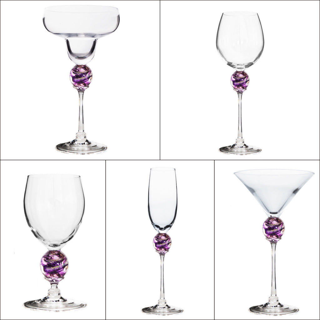 Amethyst Planet Stemware (multiple styles)