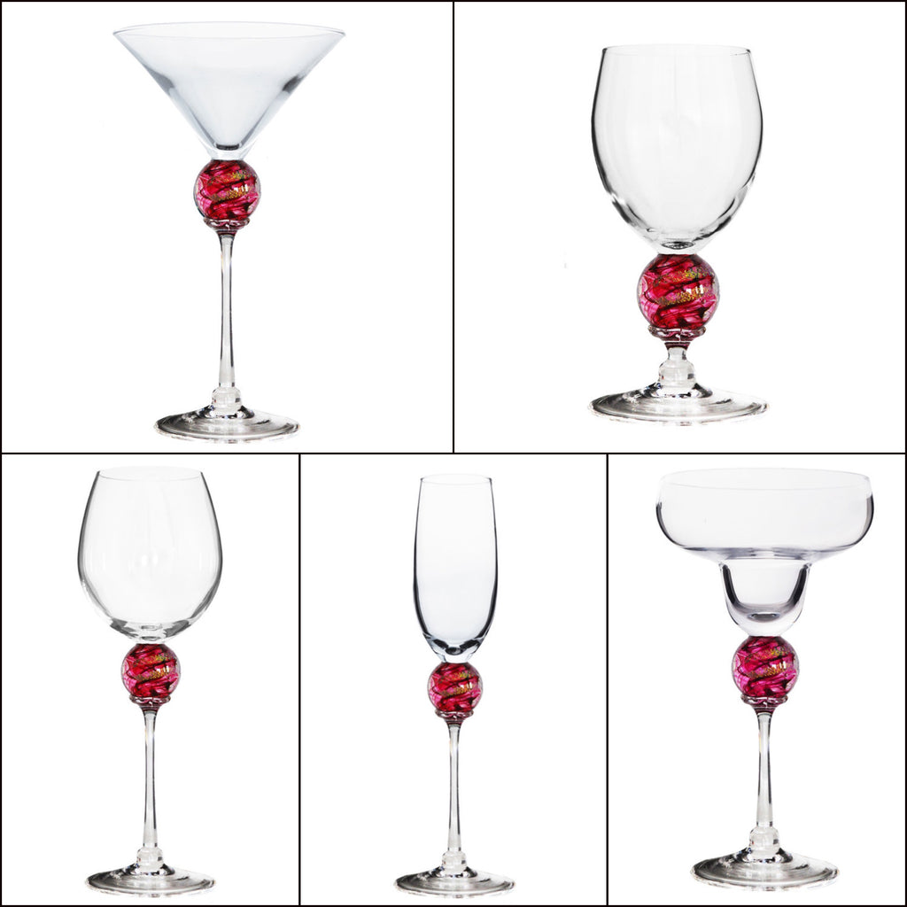 Ruby Planet Stemware (multiple styles)