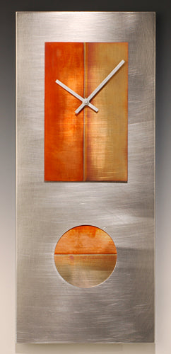 Steel and Copper 24 Pendulum Clock