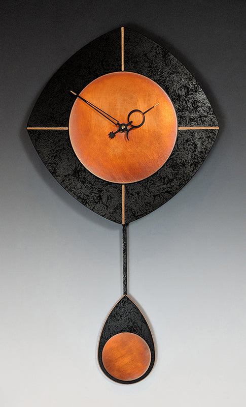 Black and Copper Drop Clock