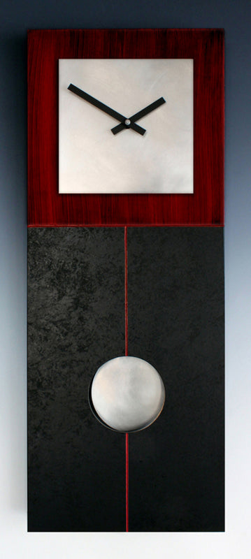 Red and Black Pendulum Clock
