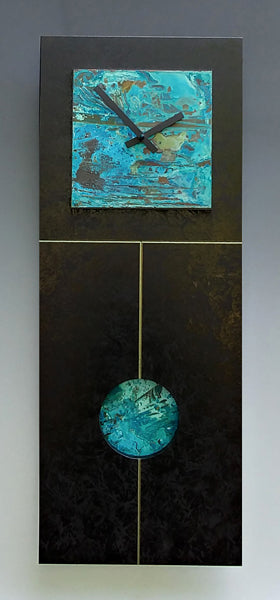 Black and Verdigris Pendulum Clock