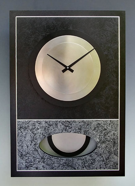 Black and Silver Walid Clock