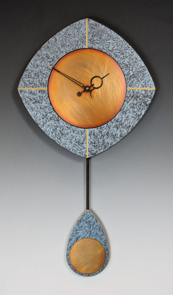 Blue and Copper Drop Clock