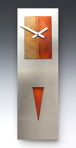 Steel and Copper Spike Clock